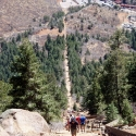 Looking Down Steep Section of Manitou Incline