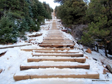 Manitou Springs Incline in Winter