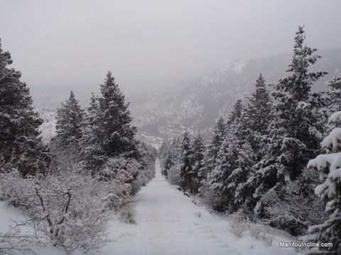 Winter Manitou Incline Hike