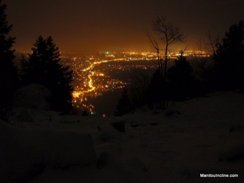 Colorado Springs at Night from Incline Summit