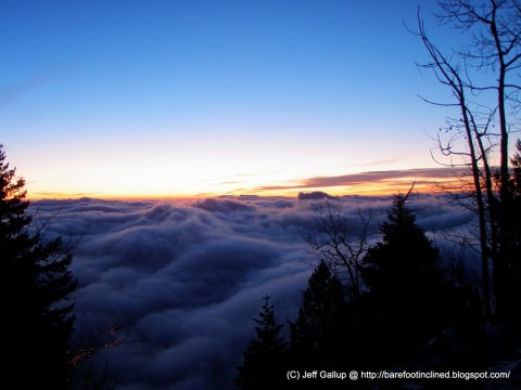 Foggy Manitou Incline Sunrise