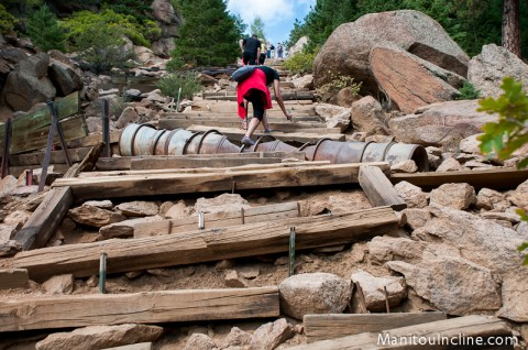 Missing Ties on Manitou Incline