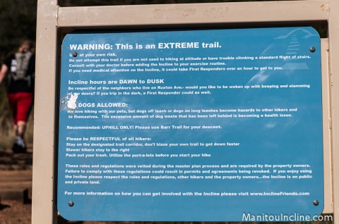 Manitou Incline Rules