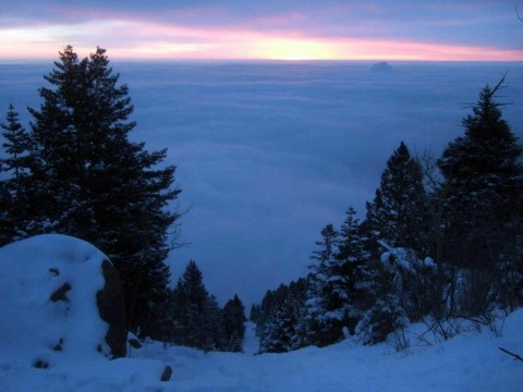 Sunrise Above the Clouds on the Manitou Incline