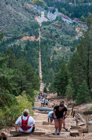 Looking Down Manitou Incline