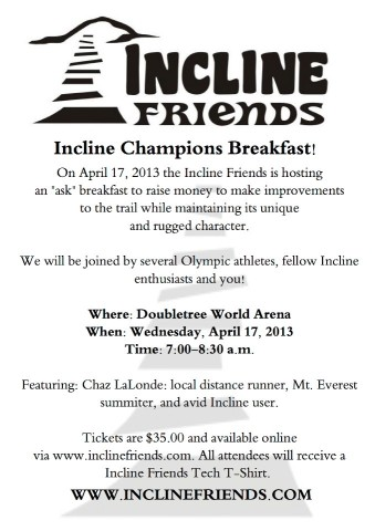 Incline Champions Breakfast Flyer