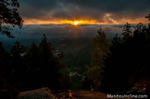 Sunrise from Manitou Incline