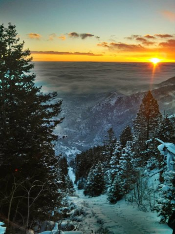 Manitou Incline Sunrise December 8, 2013