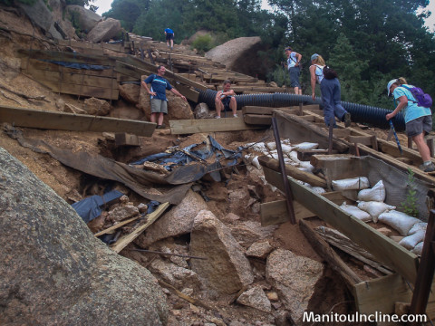 Manitou Incline Erosion at the Barr Bail Trail