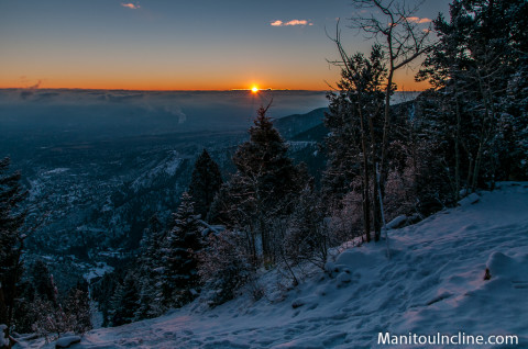 Manitou Incline Winter Sunrise