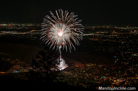 Fireworks from Manitou Incline